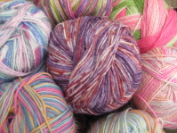 Sock yarns in 4ply (fingering) weight